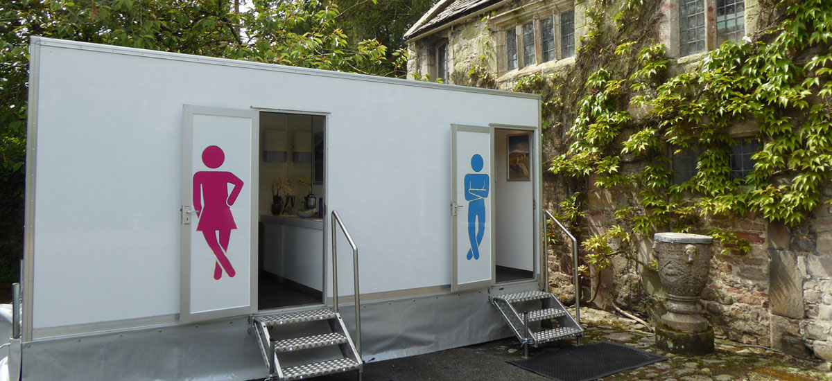 The stylish WC2 toilet exteriors are perfectly matched for a luxury event