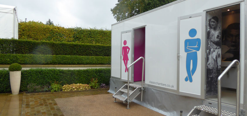 Our fabulous WC3 toilets at a Tipi event